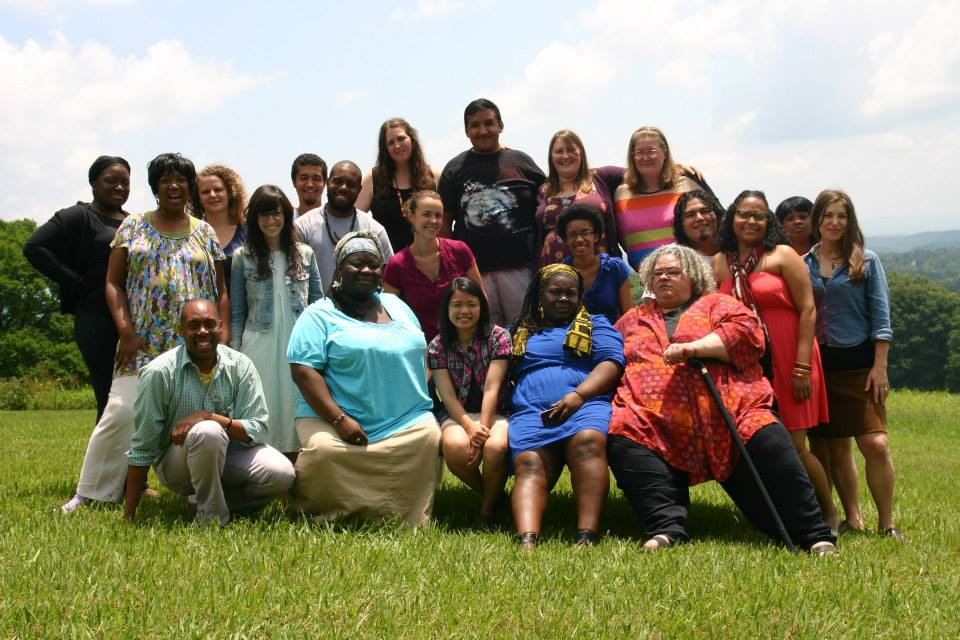 Zilphiagroupphoto: This year's group of artists and organizers at the Zilphia Horton Cultural Organizing Institute.